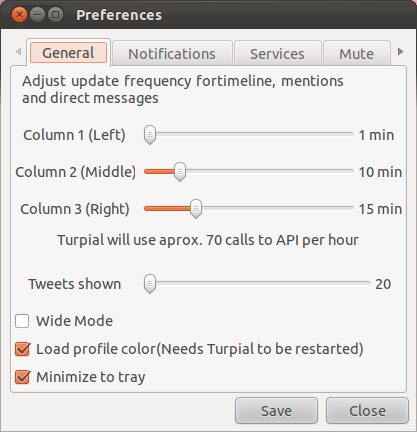 At last a twitter client for Linux very slick and lightweight - Turpial
